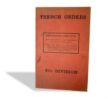 Trench Orders WWI Booklet